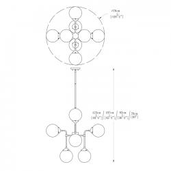 Lampa wisząca RIANO P0454-08D-SDAA Zuma Line